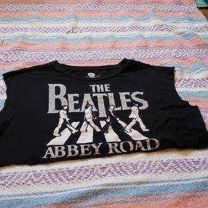🍄The beatles abbey road crop top